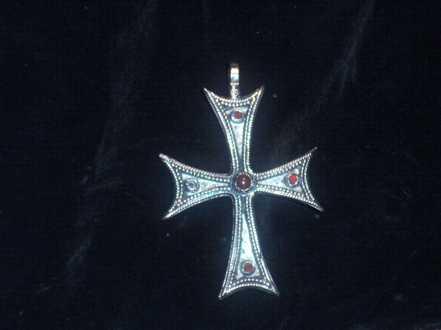 Byzantinisches Kreuz_Inspiration_9mal 6cm_Bronze_Carneol_22ct Gold hinterlegt_Kreuz
