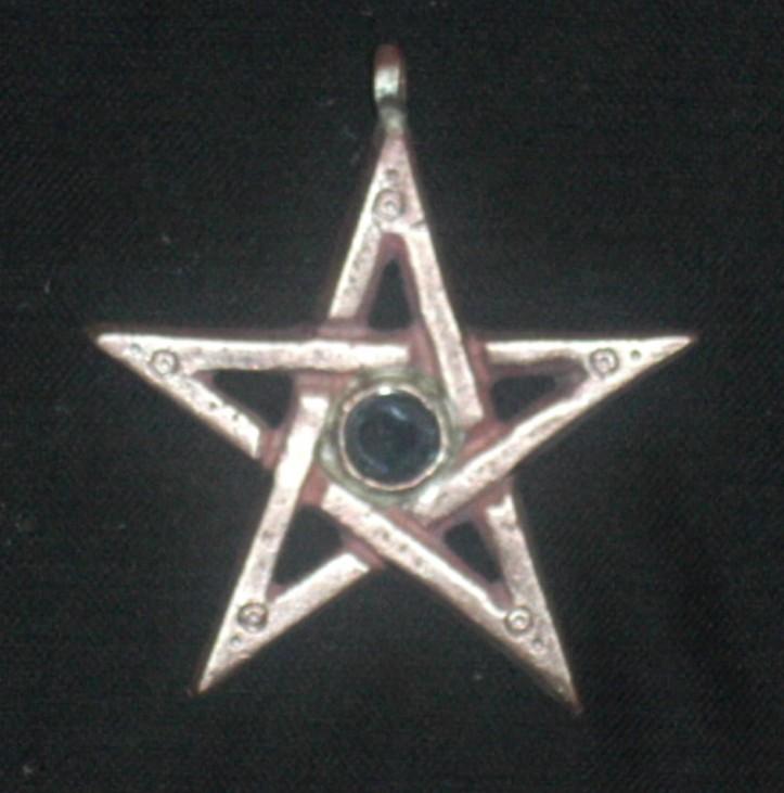 Pentagramm,Onyx,Bronze,6cm